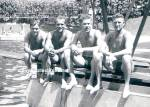Click here to enlarge image and see more about item PR1112A5-2012: Added Vint. Hot MALE SWIMMERS DOCK Photo - GAY INTEREST