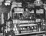 Click here to enlarge image and see more about item PR1122A4-2007: 1923 RIKERS DRUG STORE Interior, COCA COLA Adv. Photo D