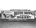 Click here to enlarge image and see more about item PR1123A2-2007: c.1916 W Morrisville, PA BUSTER BROWN Advertising Photo