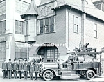 Click here to enlarge image and see more about item PR1202A1-2007: 1921 LAFD FIRE TRUCK - Engine Co. 9 PHOTO - 8 x 10