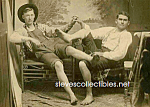 c.1920 Affectionate Male Couple Photo - GAY INTEREST