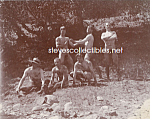 c.1898 NUDE Men Horsing Around on Rocks PHOTO-Gay Int.