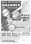 Click here to enlarge image and see more about item PW0422AA1: 1918 Burlington RAILROAD POCKET WATCH Ad