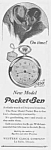 Click here to enlarge image and see more about item PW0525AA4: 1928 POCKET BEN Westclox Watch Ad