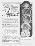 Click here to enlarge image and see more about item PW0526AA1: 1924 SANTA FE Illinois Pocket Watch Ad