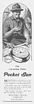 Click here to enlarge image and see more about item PW0526AA4: 1927 POCKET BEN Westclox Watch Ad