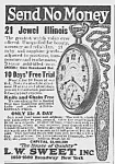 Click here to enlarge image and see more about item PW0529CC2: 1922 ILLINOUS POCKET WATCH Ad L@@K!
