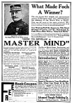 Click here to enlarge image and see more about item QU0122B1: 1919 HOW TO DEVELOP A MASTER MIND Magazine Ad