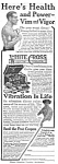 1918 WHITE CROSS Electric Vibrator QUACK Ad