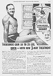 Click here to enlarge image and see more about item QU0525AA1: 1936 DON'T BE SKINNY Magic Muscle Cure Ad