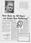 Click here to enlarge image and see more about item QU0526AA3: 1924 Hair Restorer That REALLY Works QUACK Ad