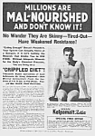 Click here to enlarge image and see more about item QU0530AA3: 1937 DON'T BE SKINNY Magic Muscle Cure Ad