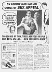 Click here to enlarge image and see more about item QU0614AA2: 1939 DON'T BE SKINNY Magic Muscle Cure Ad