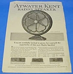 Click here to enlarge image and see more about item RA0101A1: 1927 ATWATER KENT RADIO SPEAKER Magazine Ad