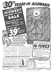 Click here to enlarge image and see more about item RA0311A1: 1938 MIDWEST WOODEN FLOOR RADIO Mag. Ad