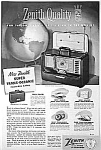 Click here to enlarge image and see more about item RA0327AA2: 1952 ZENITH TRANS-OCEANIC Radio Ad