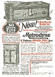 Click here to enlarge image and see more about item RA0413A2: 1927 METRODYNE WOODEN RADIO Mag. Ad