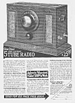 Click here to enlarge image and see more about item RA0620AA1: 1926 ART DECO RADIO Magazine Ad L@@K!