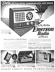 Click here to enlarge image and see more about item RA0701A1: 1945 EMERSON RADIOS Ad