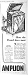 Click here to enlarge image and see more about item RA0708A3: 1931 English Art Deco AMPLION RADIO AD:
