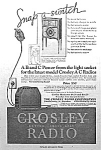 Click here to enlarge image and see more about item RA0815A1: 1927 CROSLEY RADIO  - Cabinet Magazine Ad L@@K!