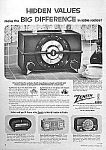 Click here to enlarge image and see more about item RA1022A1: 1953 ZENITH Plastic RADIOS Ad