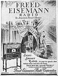 Click here to enlarge image and see more about item RA1022A2: 1927 FREED-EISMANN RADIO Mag. Ad