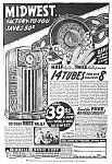 Click here to enlarge image and see more about item RA1103A1: 1937 MIDWEST WOODEN FLOOR RADIO Mag. Ad