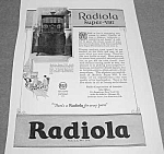 Click here to enlarge image and see more about item RA821A2: 1925 RADIOLA SUPER VIII Radio Ad