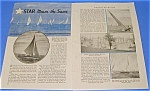Click here to enlarge image and see more about item RAC707AA1: 1937 STAR FLEET Yacht RACING Mag Article