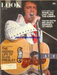 1971 ELVIS PRESLEY Cover Look Magazine TWIGGY