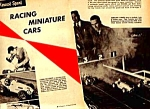 Click here to enlarge image and see more about item RC0122A5: 1958 MODEL RACING CARS Magazine Article
