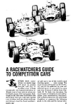 Click here to enlarge image and see more about item RC0122B1: 1967 RACEWATCHERS GUIDE Magazine Article