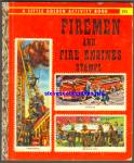 Click here to enlarge image and see more about item RCB010511A30: FIREMEN AND FIRE ENGINES STAMPS Golden Book - Scarry