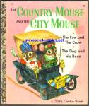 COUNTRY MOUSE CITY MOUSE Little Golden Book-Scarry