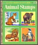ANIMAL STAMPS -  Little Golden Book - 1955