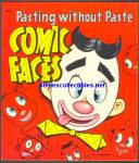 Click here to enlarge image and see more about item RCB011611A009: 1954 COMIC FACES Sticker Book - Saalfield