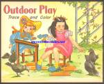 Click to view larger image of 1950s Lot of 2 Coloring Books OUTDOOR PLAY+ Saalfield (Image2)