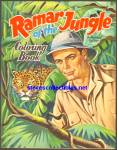 Click here to enlarge image and see more about item RCB011611A017: RAMAR OF THE JUNGLE Coloring Book Saalfield