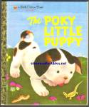 Click here to enlarge image and see more about item RCB021711a015: THE POKY LITTLE PUPPY Little Golden Book