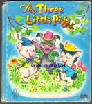 Click here to enlarge image and see more about item RCB031011a022: THE THREE LITTLE PIGS - Tell-A-Tale Book 1953