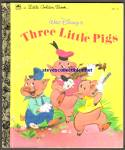 Click here to enlarge image and see more about item RCB031111a007: DISNEY THREE LITTLE PIGS Little Golden Book
