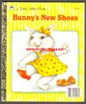Click here to enlarge image and see more about item RCB10710A017: BUNNY'S NEW SHOES - Little Golden Book
