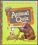 Click here to enlarge image and see more about item RCB122410A11: ANIMAL QUIZ - Little Golden Book
