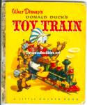 Click here to enlarge image and see more about item RCB40210A037: DONALD DUCKS Toy Train Little Golden Book