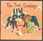 Click here to enlarge image and see more about item RCB72810A007: THE TWO DONKEYS 1963 Miniature Book - Golden Press