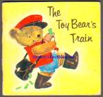 Click here to enlarge image and see more about item RCB72810A010: THE TOY BEAR'S TRAIN 1963 Miniature Book - Golden Press
