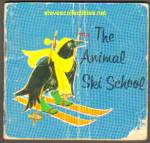 Click here to enlarge image and see more about item RCB72810A011: THE ANIMAL SKI SCHOOL 1963 Miniature Book - Golden Press