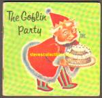 Click here to enlarge image and see more about item RCB72810A012: THE GOBLIN PARTY 1963 Miniature Book - Golden Press