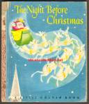 Click here to enlarge image and see more about item RCB72810A025: THE NIGHT BEFORE CHRISTMAS Little Golden Book -1946